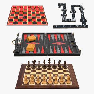 board games 2 3D model