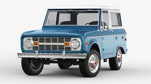 bronco 1970 3D model