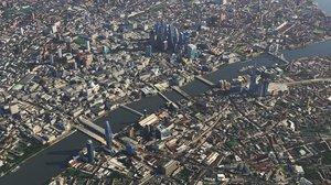 3D model london city