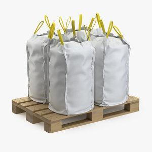 3D model pallet bags