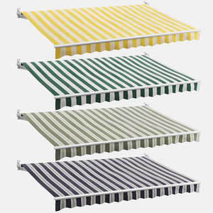 set striped awnings 3D
