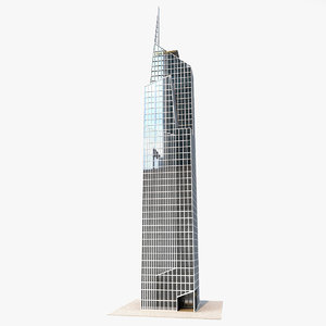 3D model skyscraper concept building 1
