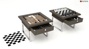 chess backgammon 3D model