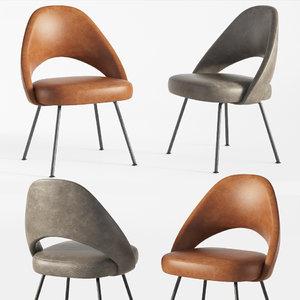 saarinen executive armless chair 3D model