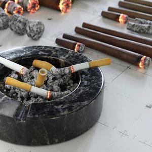 3D cigars cigarettes joints blunts
