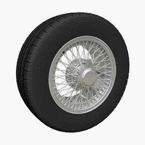 vintage wire wheel 3D
