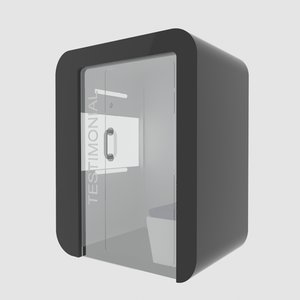 3D testimonial booth model