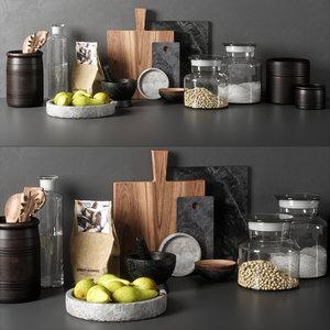 kitchen decor set 05 3D model
