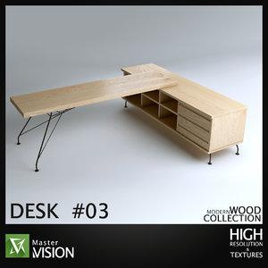 desk 03 3D model