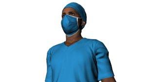3D model doctor named bob character animation