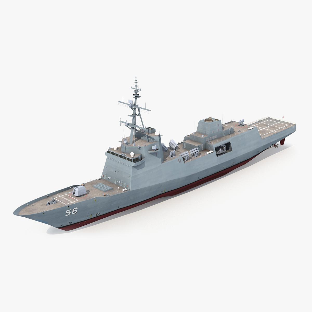 navy generation frigate ffg 3D