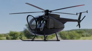 3D model hughes md500d