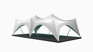 crown tent 3D