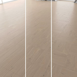 3D parquet oak tundra brushed