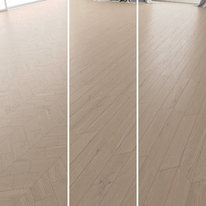 3D parquet oak tundra brushed model