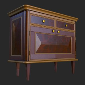 vintage furniture commode pbr 3D model