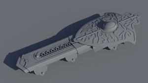 hidden blade assassin creed 3D model