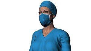nurse named amelia 3D model