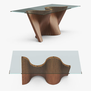 wave dining table model