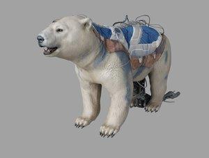 3D bear animation model