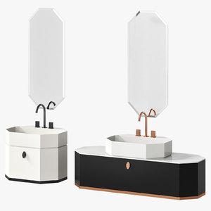 3D milldue dandy washbasin cabinet