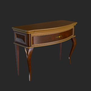 3D vintage furniture commode small model