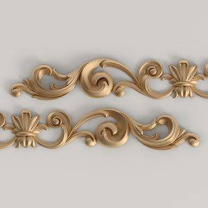 3D model horizontal decorative overlay