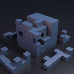 puzzle cube 3D model