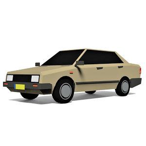 3D cartoon sedan car