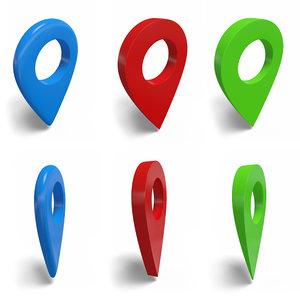 3D 3 geo marker modeled