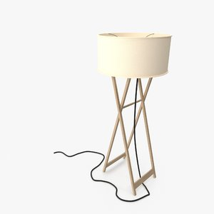 3D folding axis floor lamp