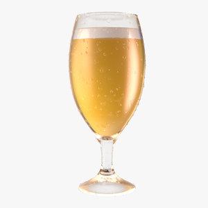 beer glass 3D