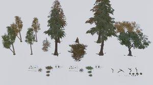 3D forest pack pbr materials