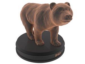 3D model print bear