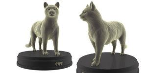 print cat 3D model