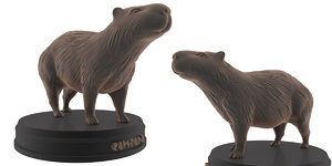 print capybara 3D model