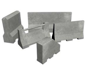 barrier concrete 3D model