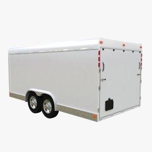 cargo trailer 3D