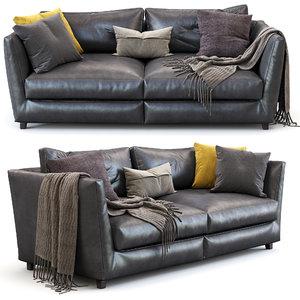 flexform sofa victor 3D model