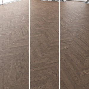 3D parquet oak missisippi wild model