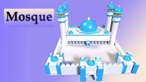 islamic mosque 3D model