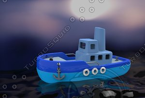 small toy ship 3D