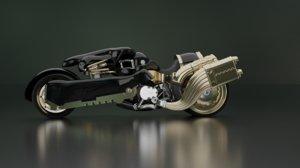 fenrir motorcycle final fantasy 3D model