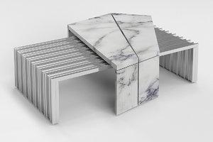 vertigo outdoor coffee table 3D model