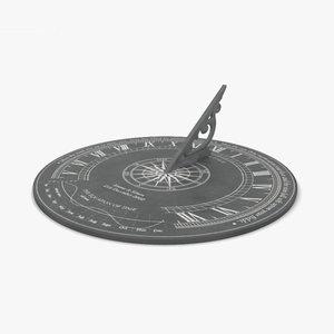 3D sundial sun