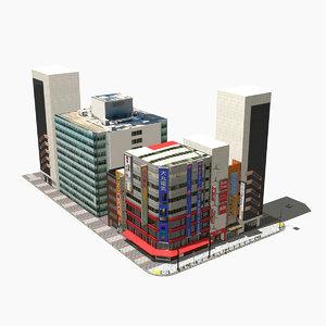 3D japanese streetscape akihabara 0003