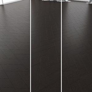 3D parquet oak black wwl model