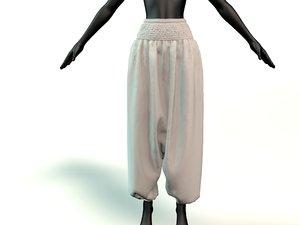harem pants 3D model