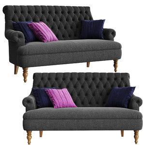 pickering compact sofa 3D model