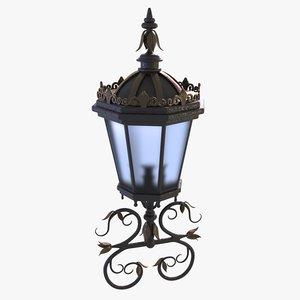 decorated lantern 3D